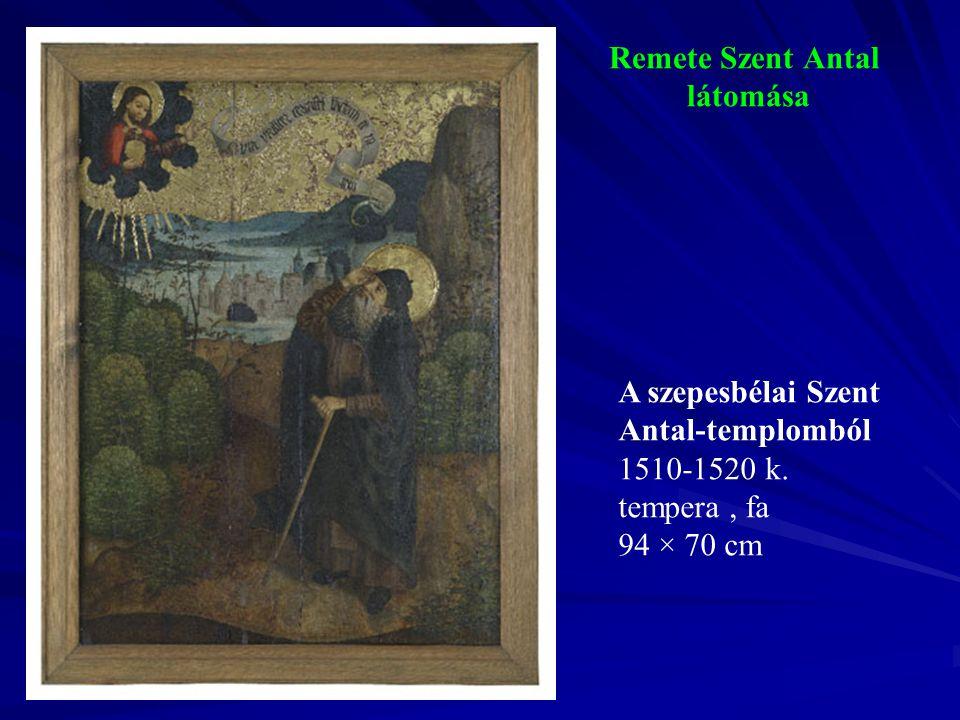 Remete Szent Antal látomása A szepesbélai Szent Antal-templomból 1510-1520 k. tempera, fa 94 × 70 cm