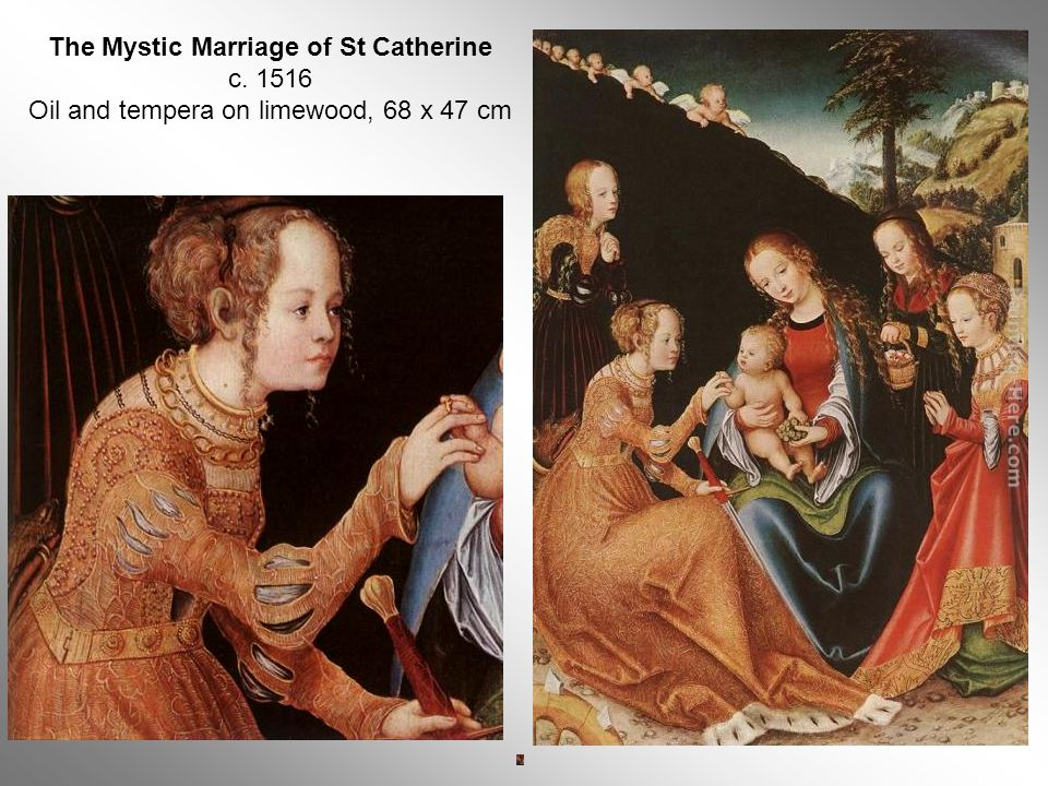 The Mystic Marriage of St Catherine c. 1516 Oil and tempera on limewood, 68 x 47 cm
