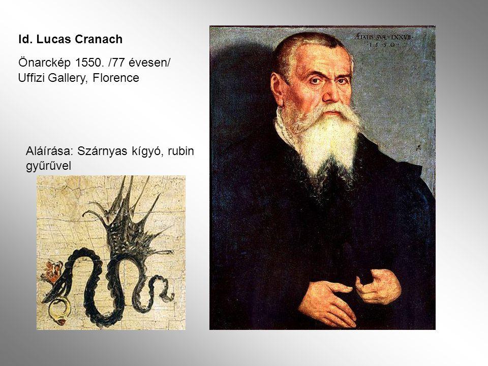 Id.Lucas Cranach Önarckép 1550.