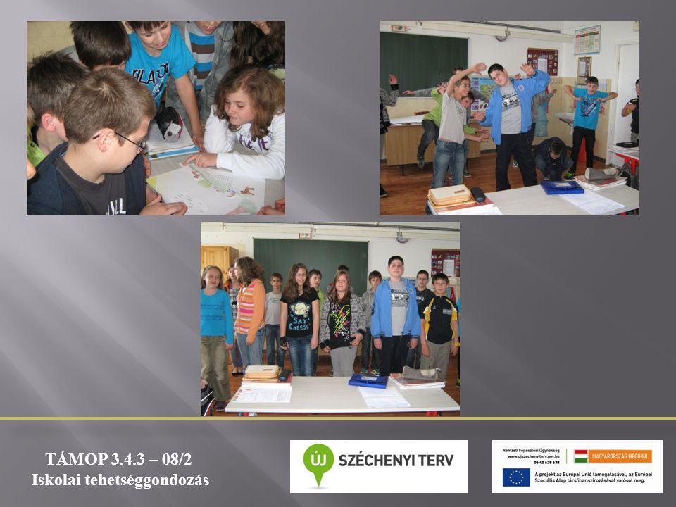 TÁMOP 3.4.3 – 08/2 Iskolai tehetséggondozás