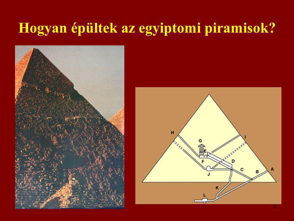 3 Hogyan épültek az egyiptomi piramisok?
