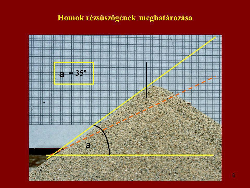 9 További számítások A piramis magassága 145 méter, súlypontja tehát kb.