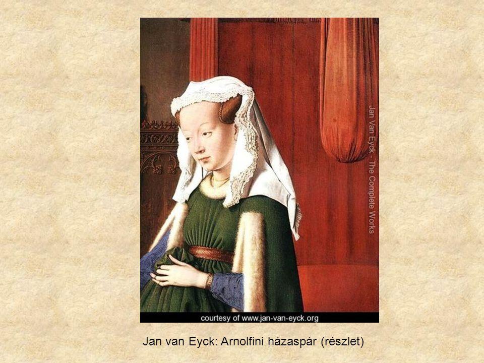 Jan van Eyck: Arnolfini házaspár (részlet)