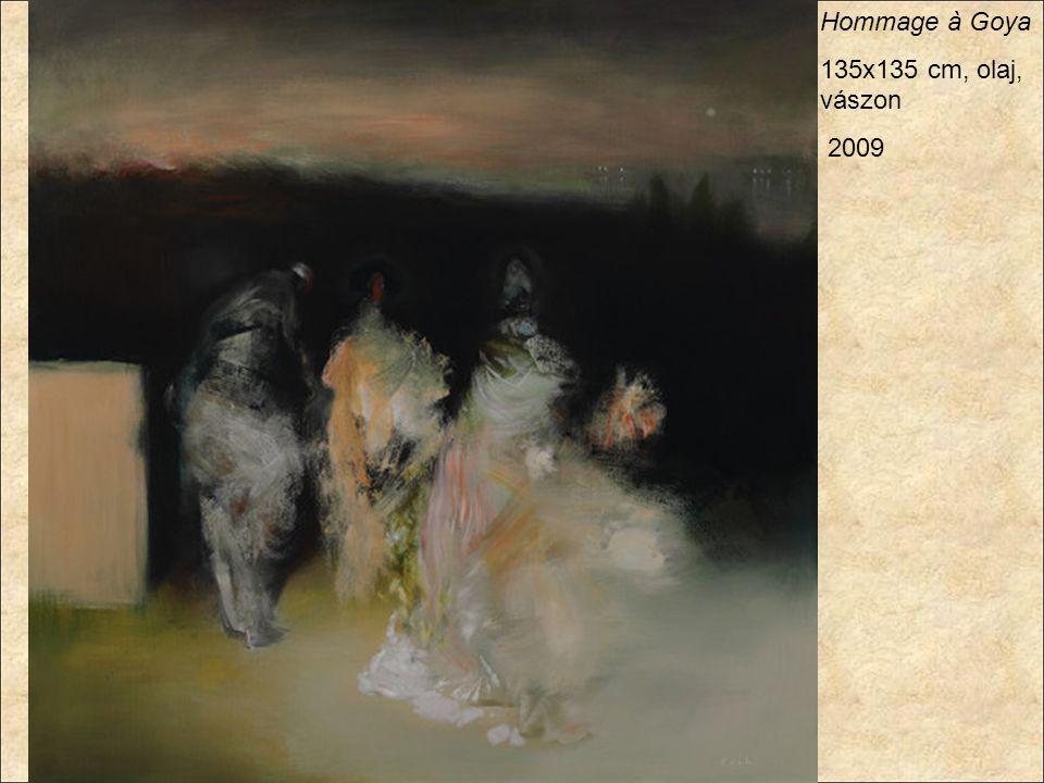 Hommage à Goya 135x135 cm, olaj, vászon 2009