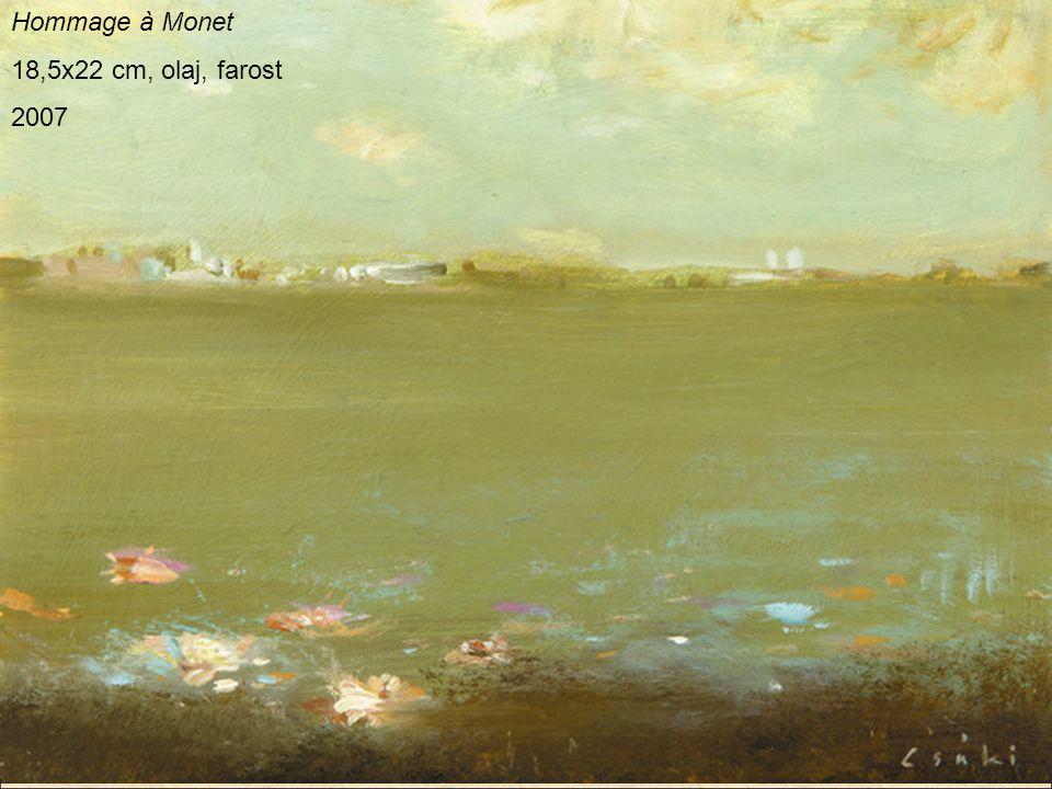 Hommage à Monet 18,5x22 cm, olaj, farost 2007
