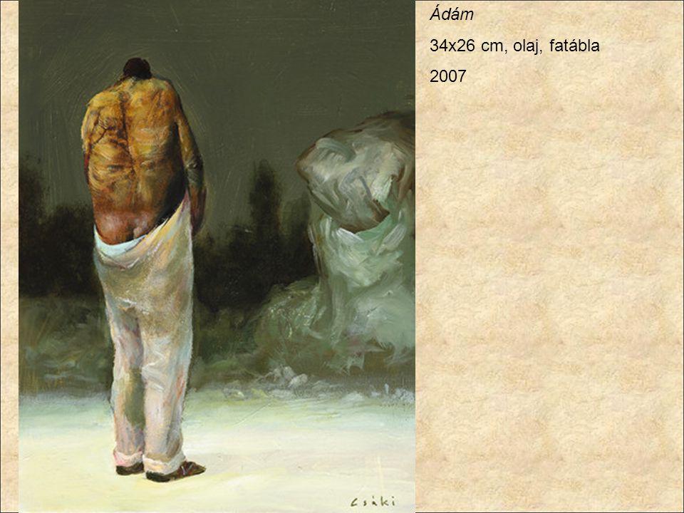 Ádám 34x26 cm, olaj, fatábla 2007