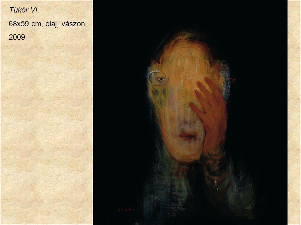 Tükör VI. 68x59 cm, olaj, vászon 2009