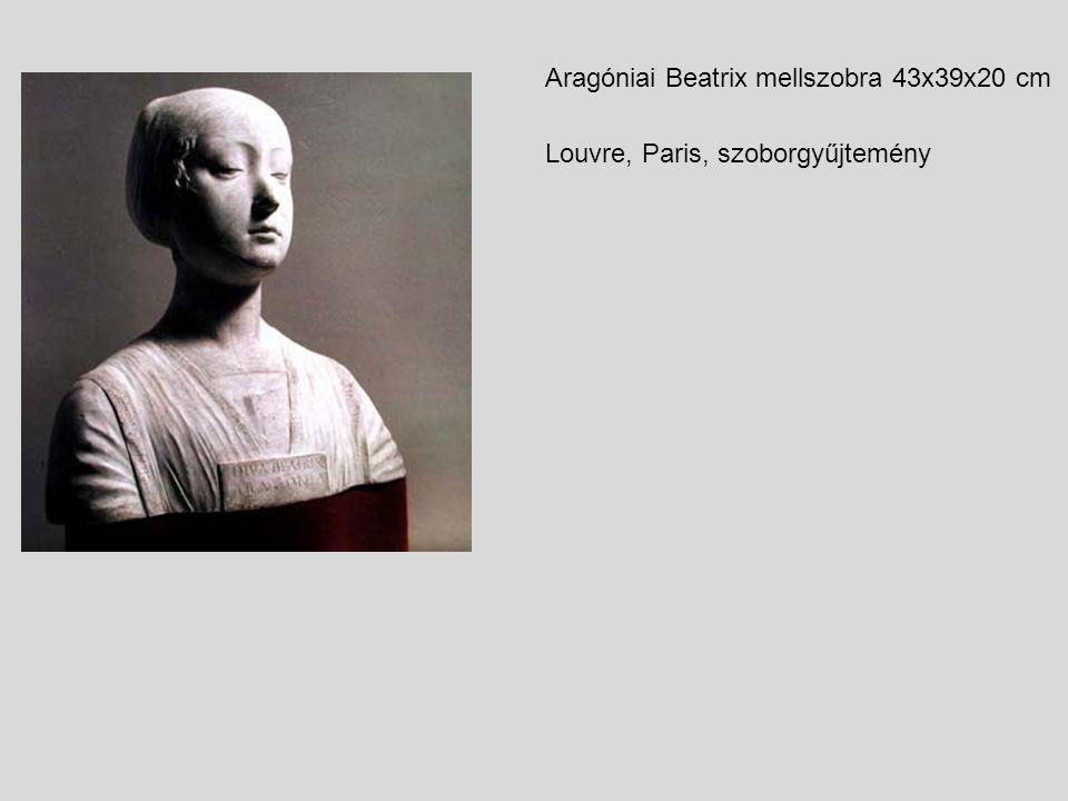 Aragóniai Beatrix mellszobra 43x39x20 cm Louvre, Paris, szoborgyűjtemény