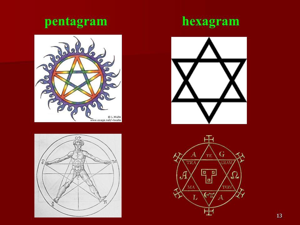 13 pentagram hexagram