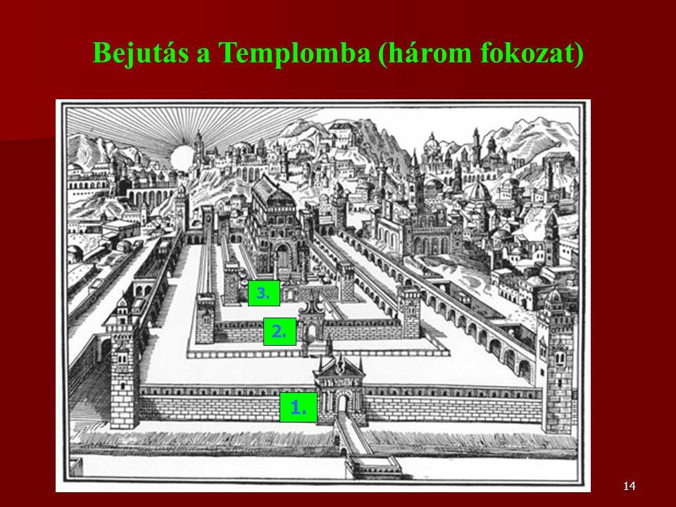 14 Bejutás a Templomba (három fokozat) 1. 2. 3.