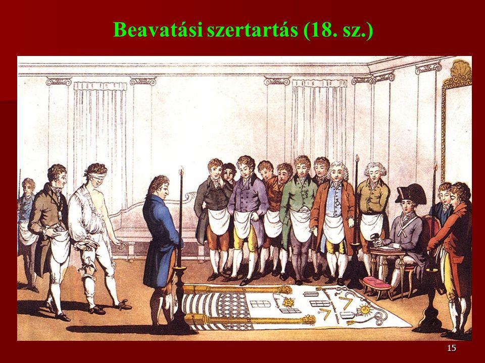 15 Beavatási szertartás (18. sz.)