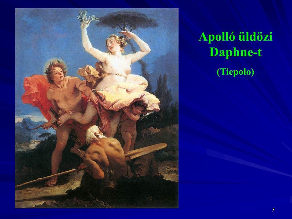 7 Apolló üldözi Daphne-t (Tiepolo)