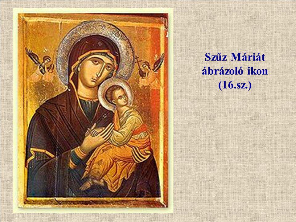 Szűz Máriát ábrázoló ikon (16.sz.)