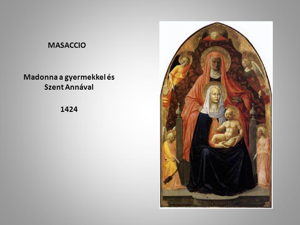 MASACCIO Madonna a gyermekkel és Szent Annával 1424