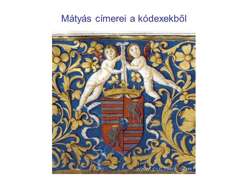 Mátyás címerei a kódexekből