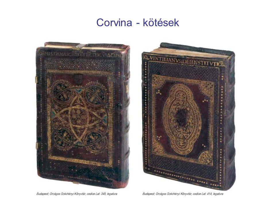 Corvina - kötések