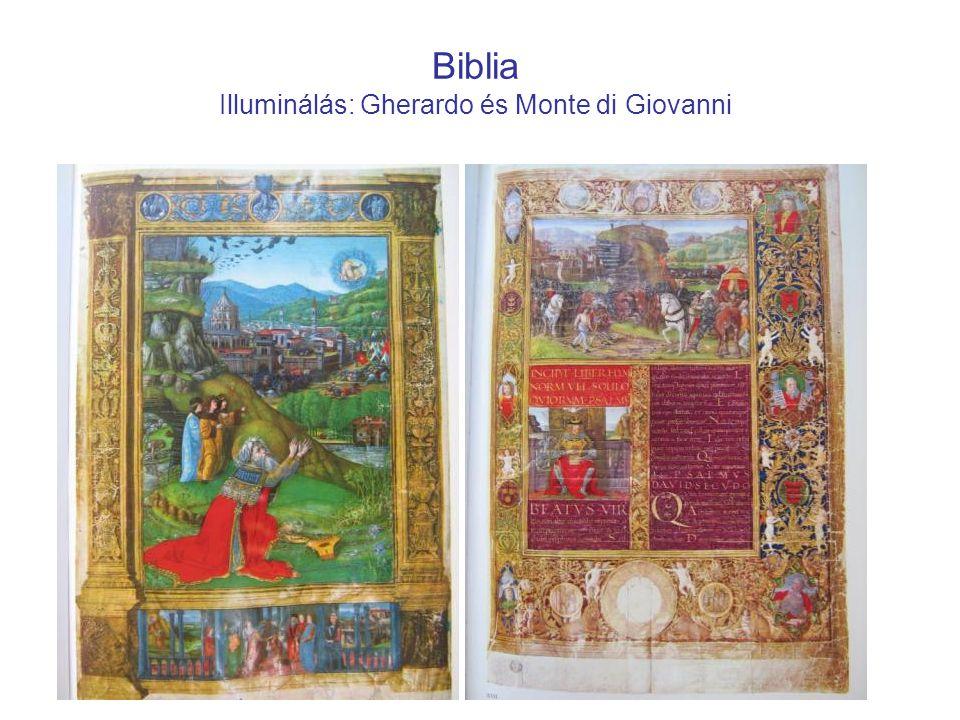 Biblia Illuminálás: Gherardo és Monte di Giovanni