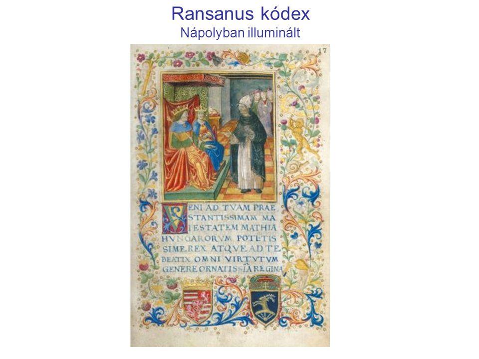Ransanus kódex Nápolyban illuminált