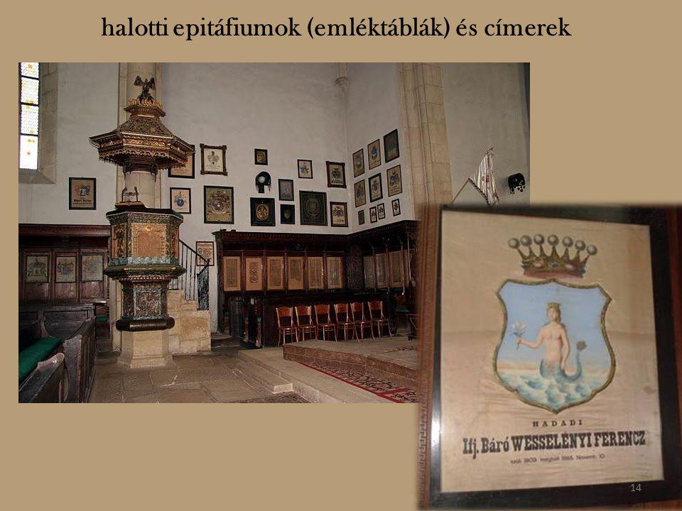 halotti epitáfiumok (emléktáblák) és címerek 14