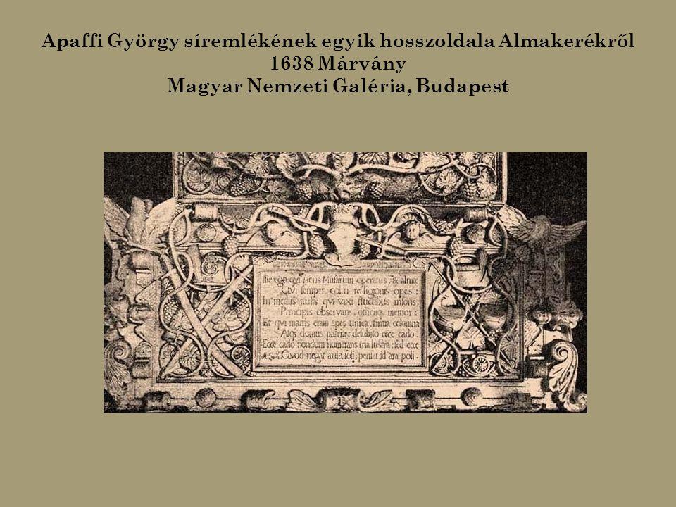 Theilesius György evangélikus püspök síremléke 1649. (A berethalmi evangélikus templomban)