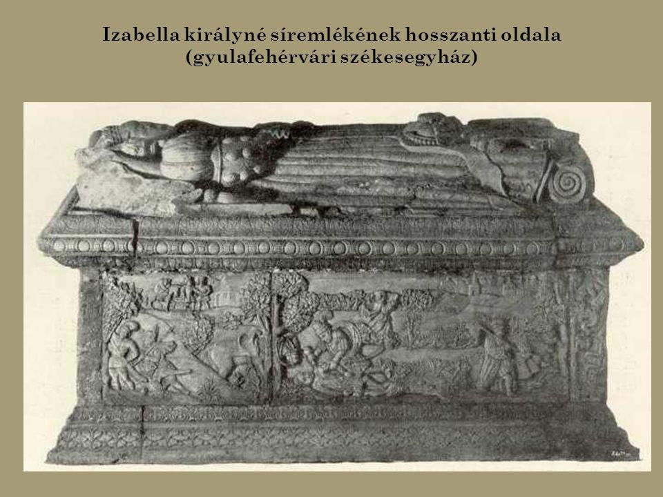 János Zsigmond fejedelem (balra) és Izabella királyné (jobbra) síremléke (gyulafehérvári székesegyház)