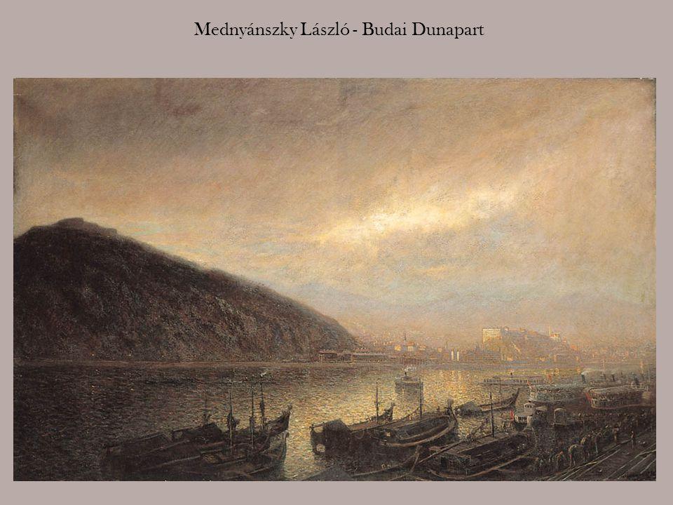 Nádler Róbert: A budai Duna-part a Budai várral, 1897.