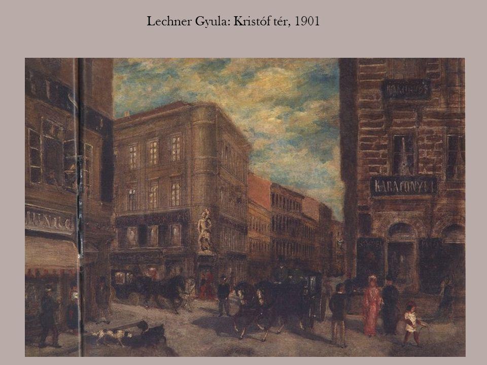 Róth Alfréd: Az evangélikus templom és környéke, 1910-es évek