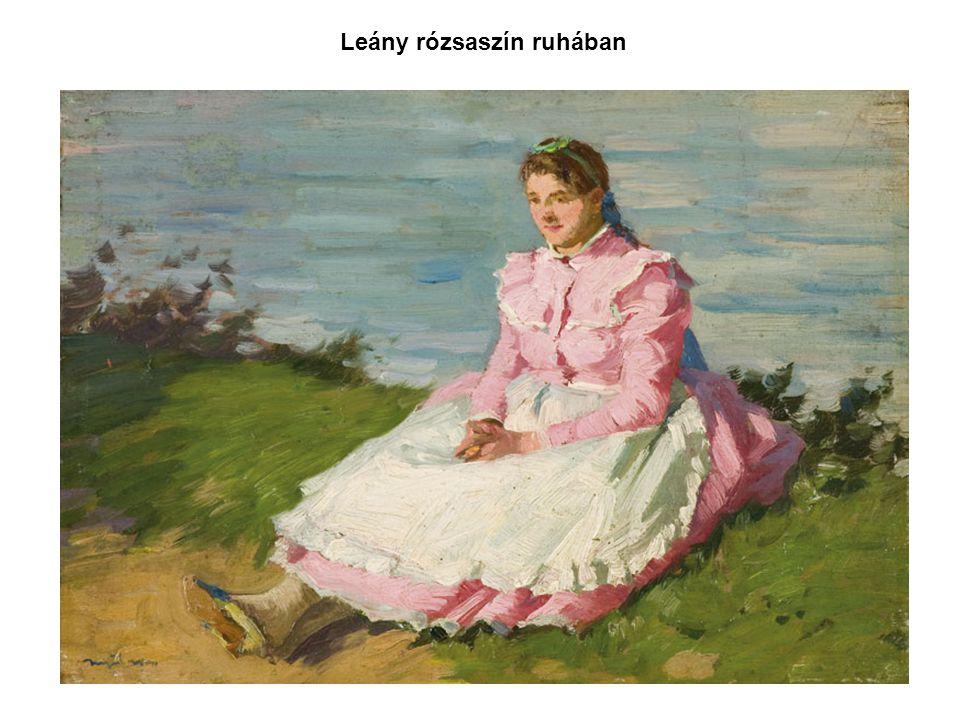 Leány rózsaszín ruhában