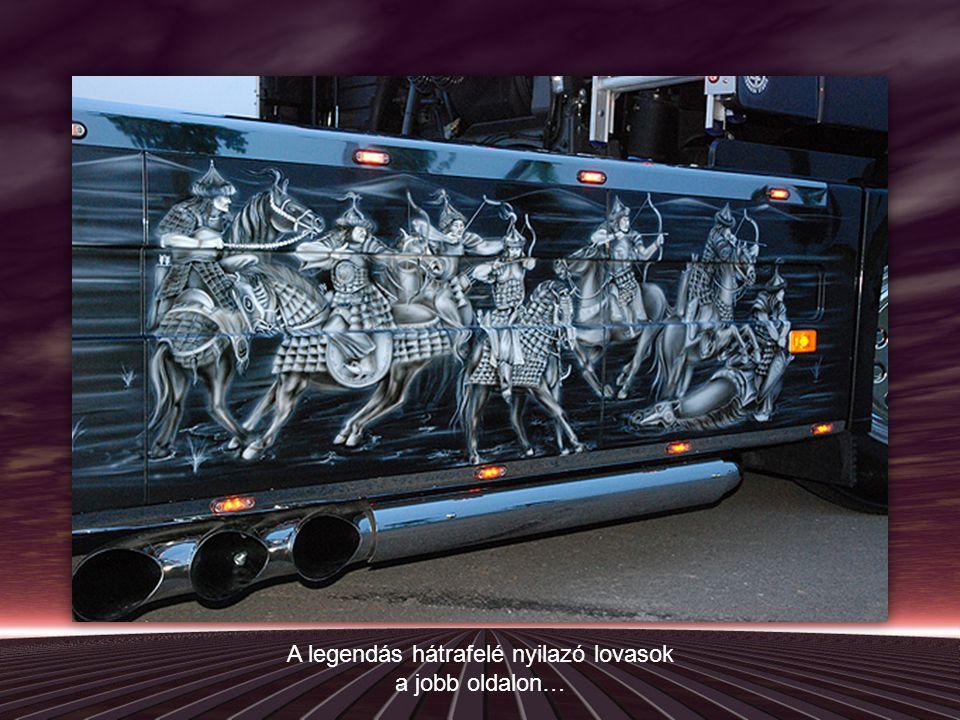 Sok kamionon látunk ilyen-olyan festményeket, jegesmedvéket, indiánokat, de én úgy gondoltam, hogy akkor már legyen olyan, ami kapcsolódik hozzánk, magyarokhoz.