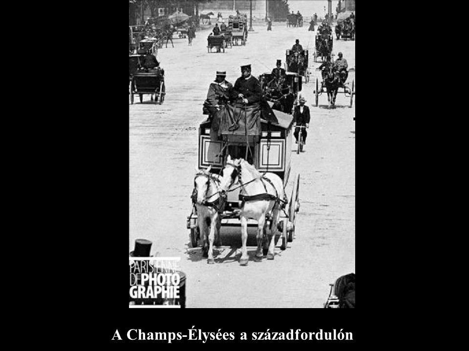 A Champs-Élysées a századfordulón
