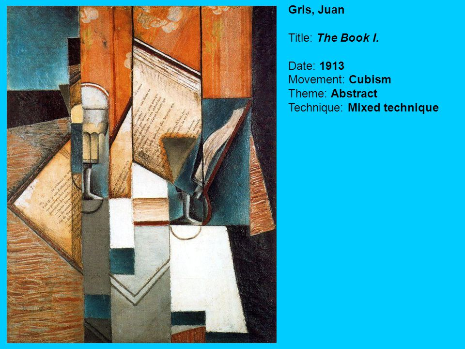 Gris, Juan Title: The Book I.