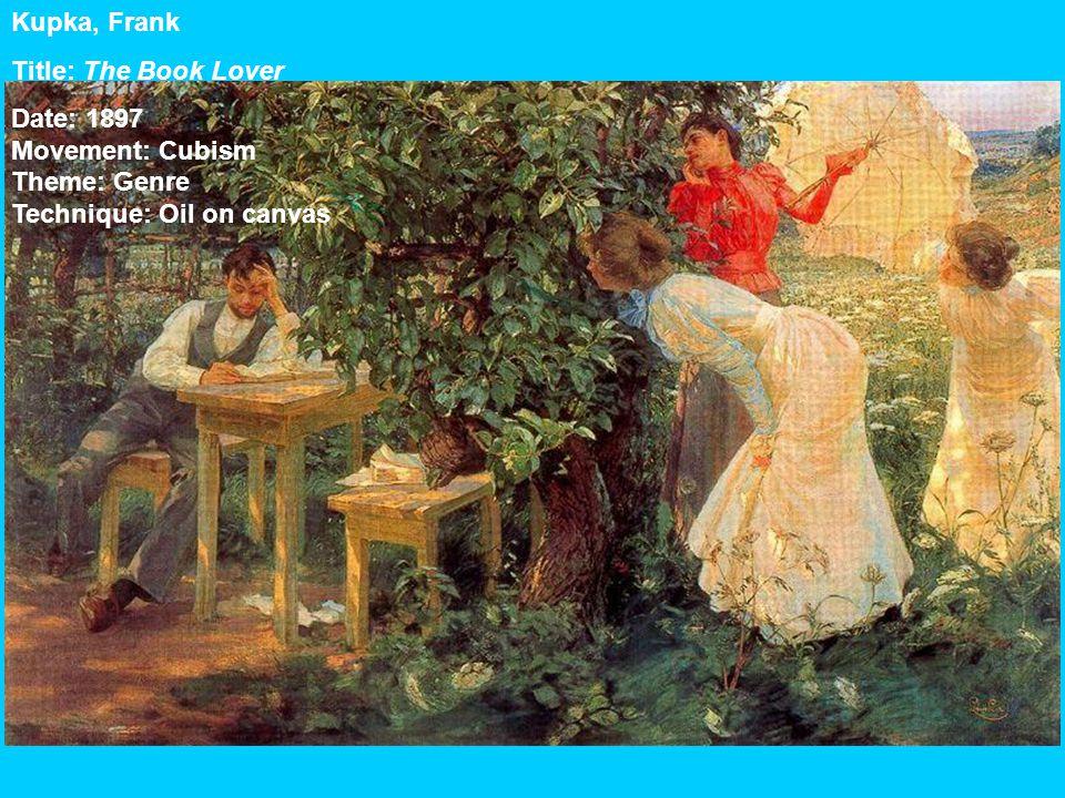 Kupka, Frank Title: The Book Lover Date: 1897 Movement: Cubism Theme: Genre Technique: Oil on canvas