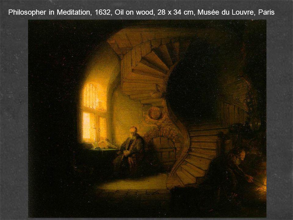 Philosopher in Meditation, 1632, Oil on wood, 28 x 34 cm, Musée du Louvre, Paris