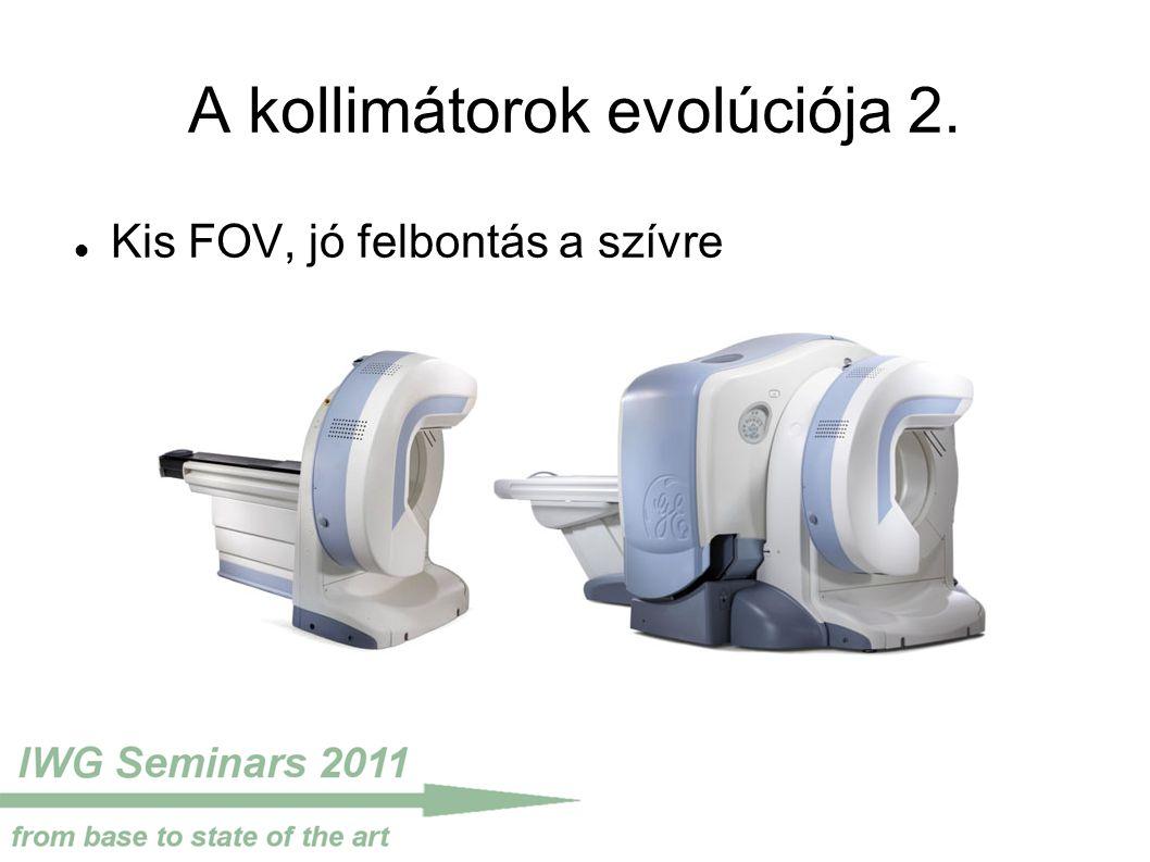A kollimátorok evolúciója 2. Kis FOV, jó felbontás a szívre