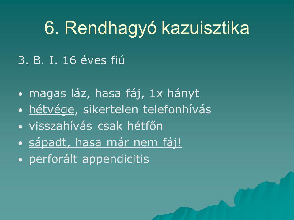 6. Rendhagyó kazuisztika. 3. B. I.
