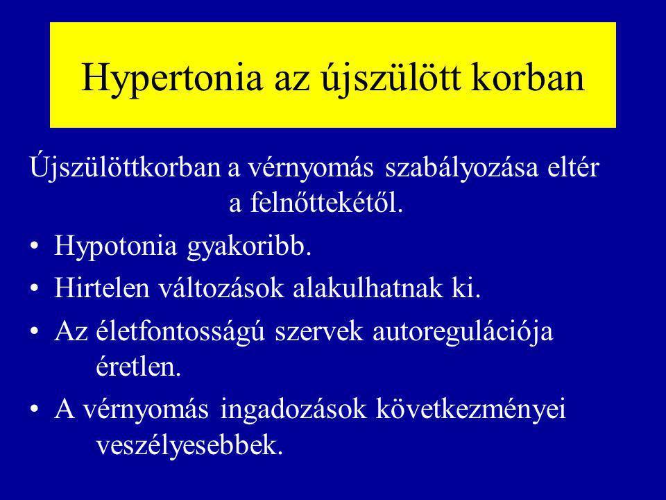 Hypertonia az újszülött korban Újszülöttkorban a vérnyomás szabályozása eltér a felnőttekétől.
