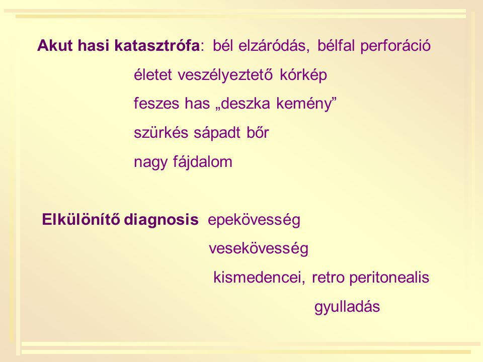 Fertőzéses emésztőszervi betegségek: vírus: rotavírus adenovírus parazita: Giardia lamblia bacteriális: Campylobacter jejuni E.