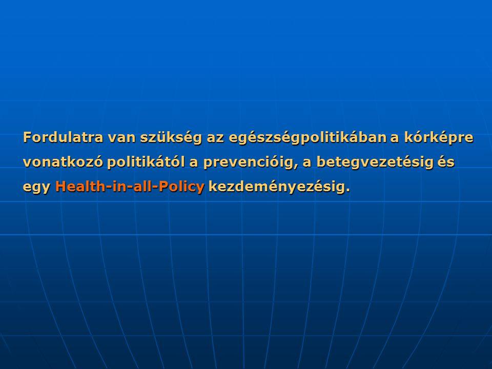 Fordulatra van szükség az egészségpolitikában a kórképre vonatkozó politikától a prevencióig, a betegvezetésig és egy Health-in-all-Policy kezdeményezésig.