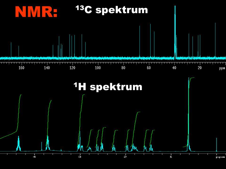 Példák a szerkezet megfejtésének illusztrálására 1 H-NMR RGH-10885 13 C spektrum 1 H spektrum NMR: