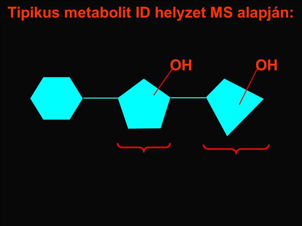 Tipikus metabolit ID helyzet MS alapján: OH