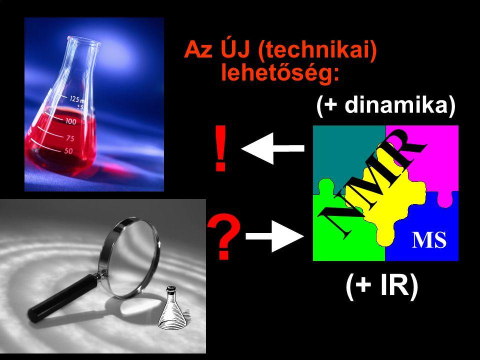 Az ÚJ (technikai) lehetőség: NMR MS ! (+ IR) (+ dinamika)