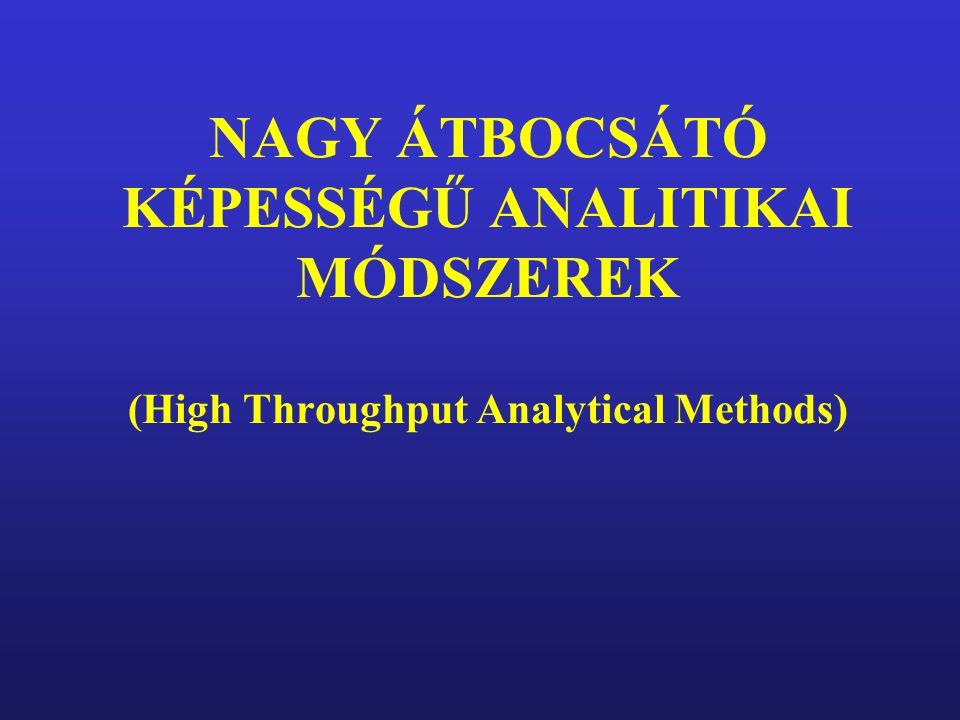 NAGY ÁTBOCSÁTÓ KÉPESSÉGŰ ANALITIKAI MÓDSZEREK (High Throughput Analytical Methods)