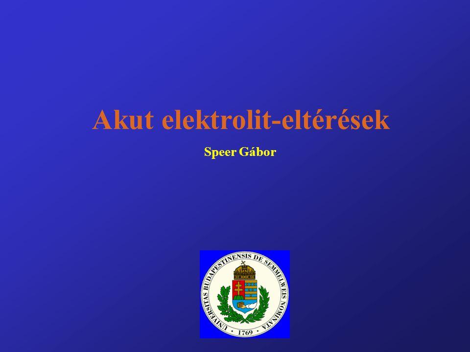 Akut elektrolit-eltérések Speer Gábor