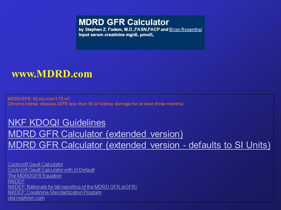 MDRD GFR Calculator by Stephen Z.