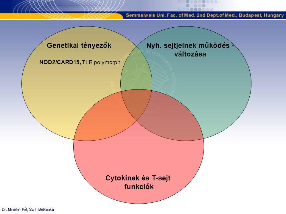 Genetikai tényezők Cytokinek és T-sejt funkciók Nyh.