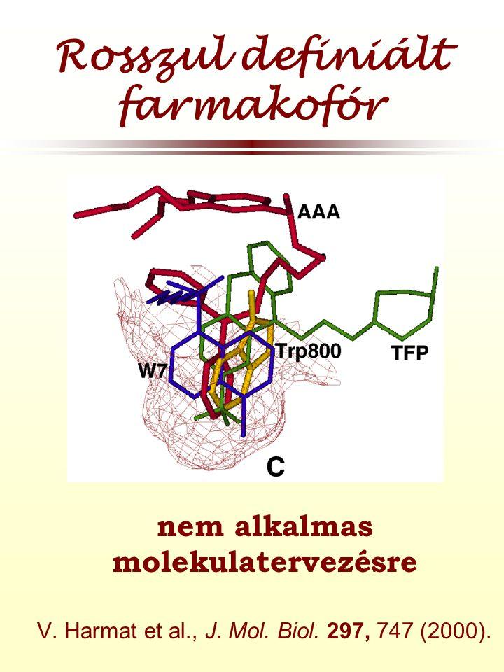 Rosszul definiált farmakofór  nem alkalmas molekulatervezésre V.