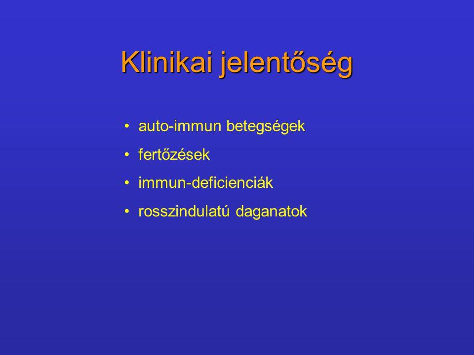 Klinikai jelentőség auto-immun betegségek fertőzések immun-deficienciák rosszindulatú daganatok