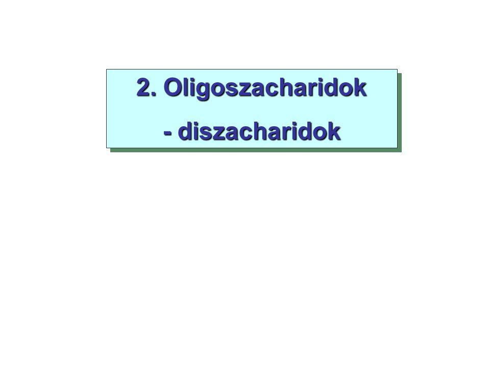2. Oligoszacharidok - diszacharidok 2. Oligoszacharidok - diszacharidok