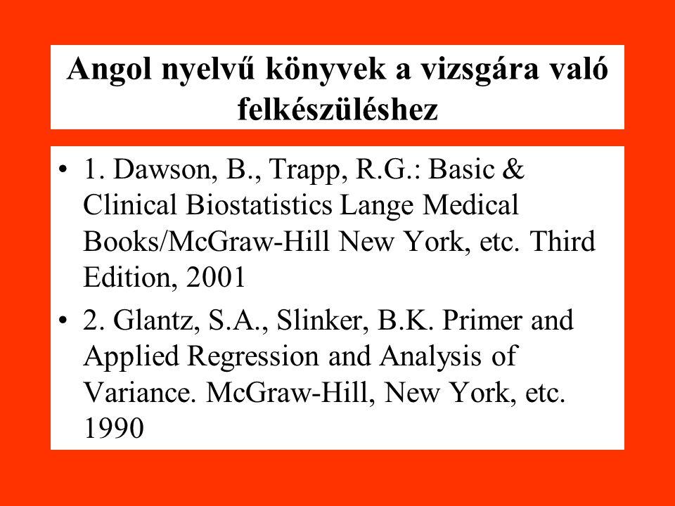 Angol nyelvű könyvek a vizsgára való felkészüléshez 1.