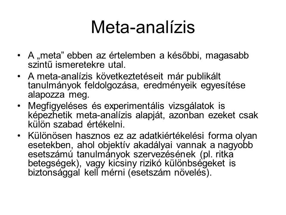 """Meta-analízis A """"meta ebben az értelemben a későbbi, magasabb szintű ismeretekre utal."""